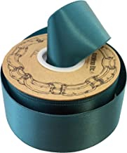 """Teal Satin Fabric Decorative Ribbon - 2"""" x 50 Yards, Holiday Decor, Garland, Gifts, Wrapping, Wreath, Gift Bow, Spring, We..."""