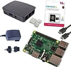 Melopero Raspberry Pi 3 Official Starter Kit Black, con Cargador Oficial, Caja Oficial, microSD Oficial de 16GB con Noobs, Cable HDMI y disipadores