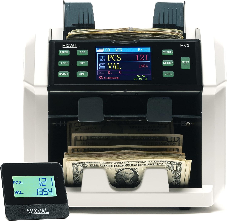 MIXVAL MV3 Money Counter Machine Popular popular w Premium Ranking TOP17 Bank 2-Pocket Grade