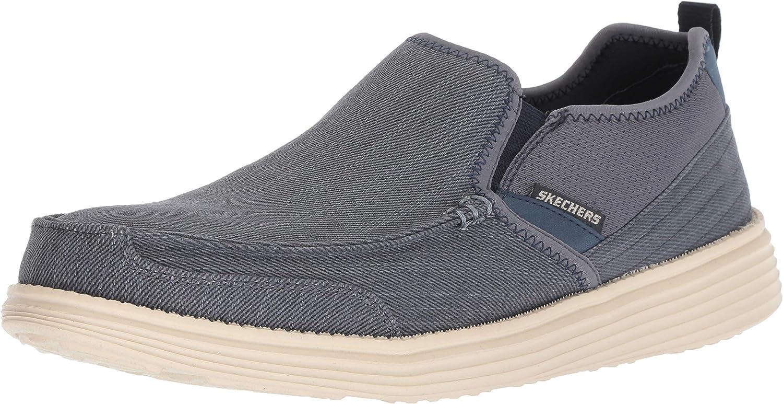 Skechers Men's Status- Delton Boat shoes, NVY, 7.5 Medium US