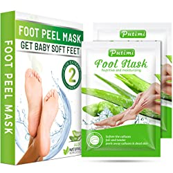 WARARTISAN Foot Peel Mask 2 Pack Exfoliating Foot Mask