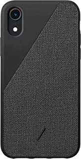 Native Union Clic Canvas Case - Premium Woven Fabric Cover - Compatible with iPhone XR (Slate)