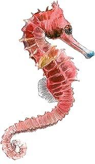 Seahorse art print (8x10). #A063 Seahorse artwork.Seahorse watercolor painting.Seahorse painting.Seahorse wall art.Wall decor.Sea animals