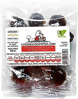 Caramelos artesanales de jengibre, miel de azahar y ajo negro elaborados sin azúcar añadido (originales y buenos para la garganta, 3 bolsas de 100g, con stevia), de Losquesosdemitio