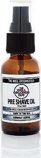 The Well Groomed Guy Pre-Shave Oil – Pre-Shaving Oil Blend for Men – Premium Grooming Oil Mix – High-end Facial Skin Care – Blend of 25 Natural Oil – Skin Prepping for Shaving – Natural Ingredients