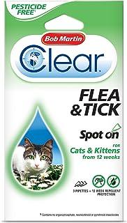 BOB MARTIN Transparente 12Semanas Repelente Protección Pulga y Garrapata Spot para Gatos