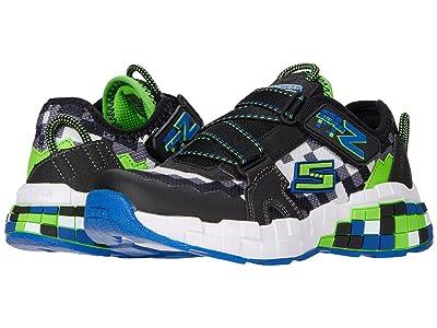 SKECHERS KIDS Sport Mega-Craft Cubotrons (Little Kid/Big Kid) (Blue/Black/Lime) Girls Shoes