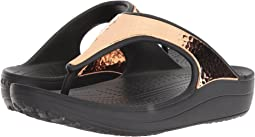 Crocs Sloane Hammered Metallic Flip