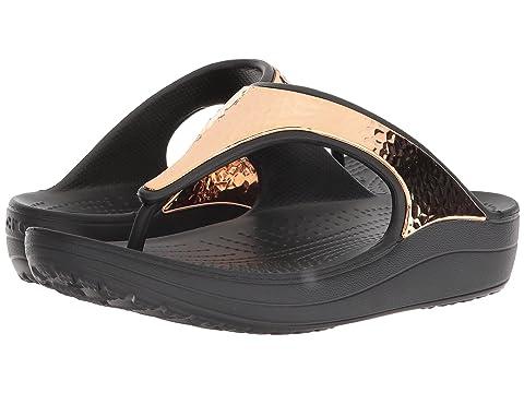 Crocs Sloane Hammered Metallic Flip Qs6Y04Ly