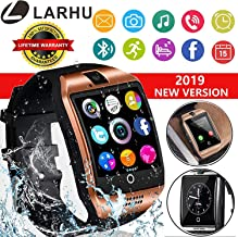 JXCSmartwJAVENPROLIU Smart Watch, Bluetooth Smart Watch Touchscreen with Camera,Unlocked Watch Phone with Sim Card Slot,Smart Wrist Watch,Smartwatch Phone for Android Samsung S9 S8 iOS iPhone (Gold)