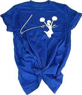 Love Cheerleading - Athletic Shirt Dry for Kids, Girls Cheerleader & Women mom Fan