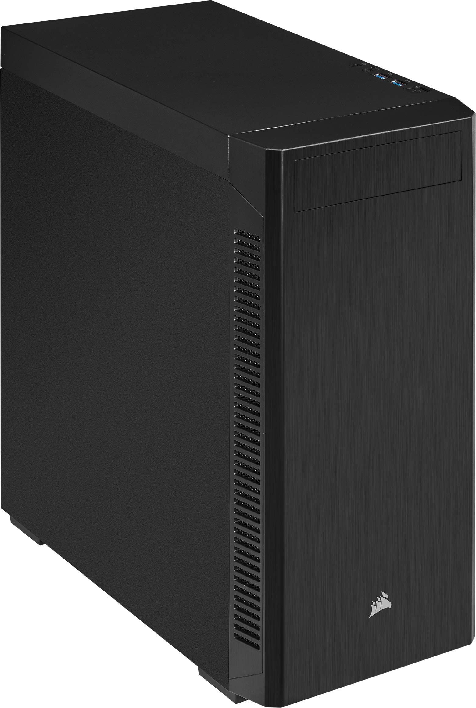 Corsair 110Q Mid-Tower Quiet ATX Case, Black, Solid, Standard