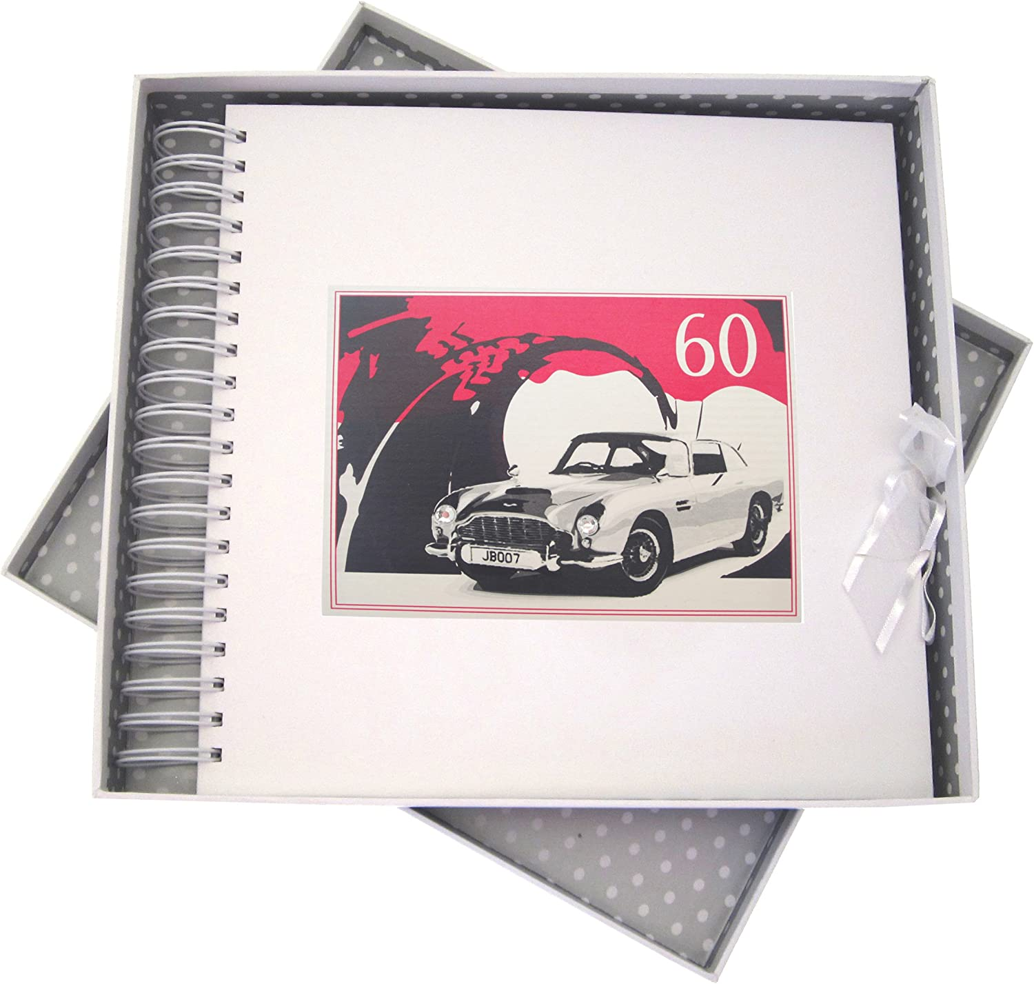 WHITE COTTON CARDS 60th Max 50% Now free shipping OFF Birthday Classic Ca Memory Card Book