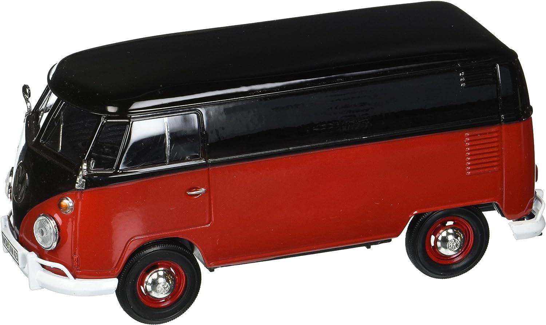 Motor Max 1 24 W B Volkswagen Type 2 (T1) Delivery Van Black Red Diecast Vehicles