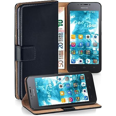 Moex Klapphülle Kompatibel Mit Huawei Ascend Y330 Hülle Klappbar Handyhülle Mit Kartenfach 360 Grad Flip Case Vegan Leder Handytasche Schwarz Elektronik