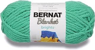 Bernat Blanket Brights Yarn, 5.3 oz, Gauge 6 Super Bulky Chunky, Go Go Green