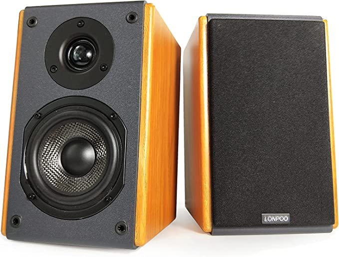 444 opinioni per LONPOO LP42X Diffusori da Scaffale Attivi, Altoparlanti da scaffale home audio