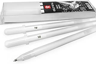 Sakura Gelly Roll Gel Pens – 1.0mm – Basic Bold Bright White – Wallet of 3