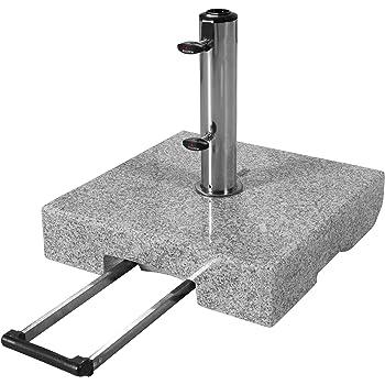 Sonnenschirmständer Schirmständer mit Rollen - Granit 55