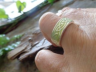 .。.: * ☆ ANELLO CON NASTRO DECORATO VERDE ☆ * .: 。. anello bohémien, misura piccola