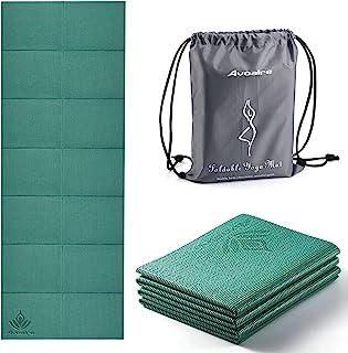 Avoalre Tapis Yoga Antidérapant et Pliable Tapis de Sport INDECHIRABLE Epais 5mm Tapis Yoga de Voyage 173x61CM pour Pilâte...