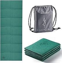 Avoalre Yogamat Opvouwbaar Antislip Draagbaar 60 cm x 173 cm x 5 cm Milieuvriendelijke PVC Yogamat Dikke Fitness Training ...