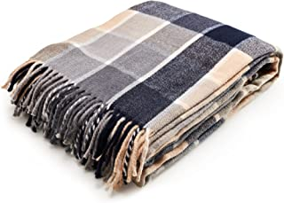 Arus Highlands Collection Tartan Plaid Design Throw Blanket Blue 60