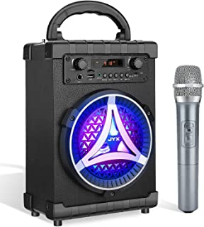 JYX Karaoke Machine Portable Speaker Bluetooth with Wireless Microphone for Kid and Adult. Rechargeable PA System with FM Radio, Audio Recording. Perfect for Party, Meeting, Outdoor/Indoor Activities