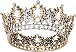 Halloween King Crown Men Fancy Dress Party Crown Wedding Head Accessory Crystal