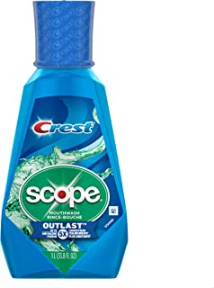 Crest Scope Outlast Mouthwash, Long Lasting Peppermint, 1 L