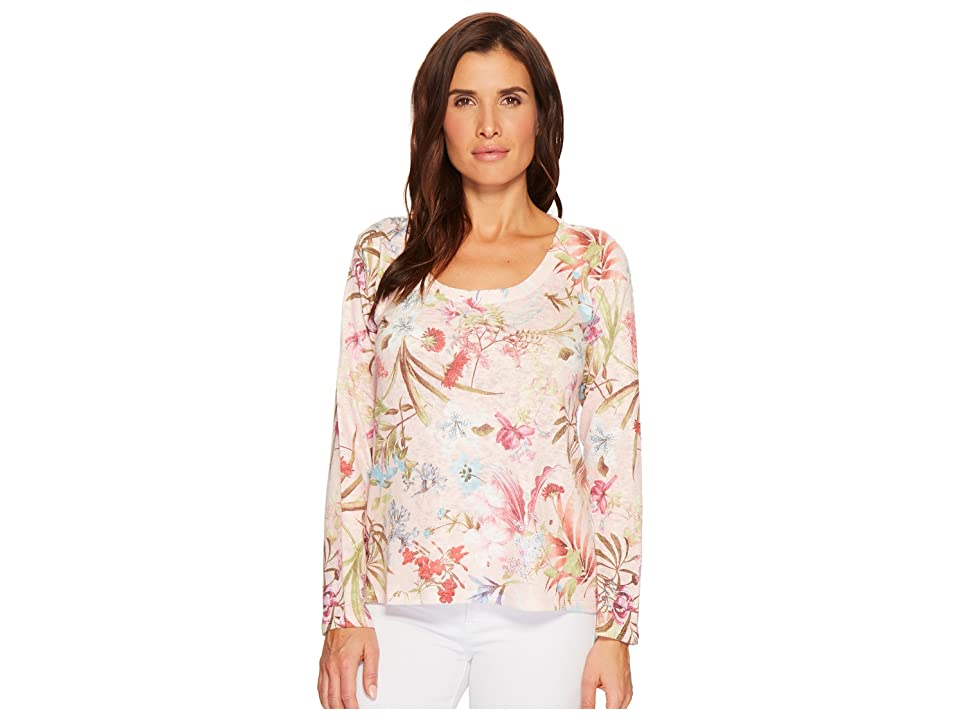 Nally & Millie Floral Print Top (Multi) Women's Long Sleeve Pullover