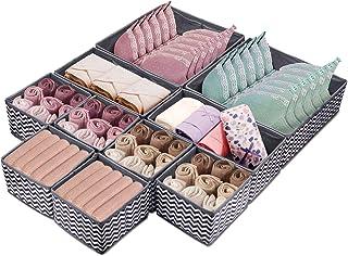 10pcs Organisateur de Tiroir Boîtes de rangement pour sous vêtements, Pliable Closet Organiseurs dressing rangement veteme...