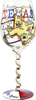 Top Shelf Texas Copa de vino, 15 onzas, multicolor