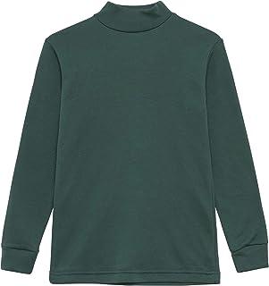 Camiseta termica Interior Niños Cuello Medio Alto Semi Cisne Manga Larga Colores Lisos