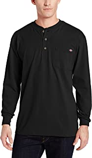 Dickies Men's Long Sleeve Heavyweight Henley