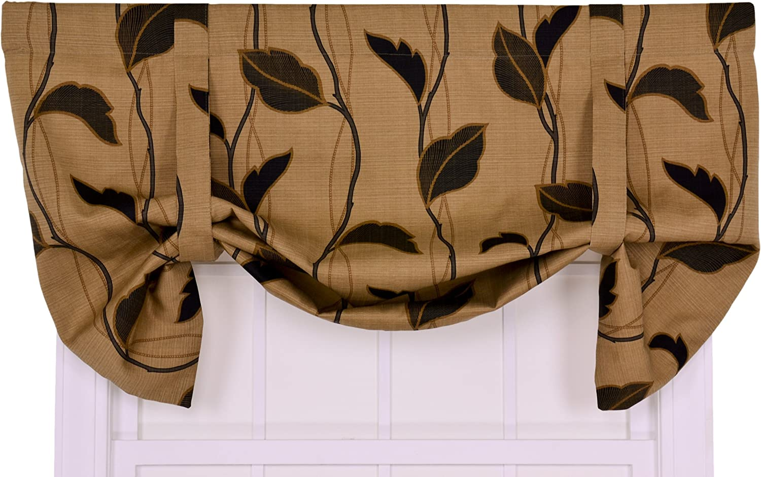 Ellis Curtain Arlington Mall Riviera Large Scale Leaf Lined Val and specialty shop Vine Tie-Up