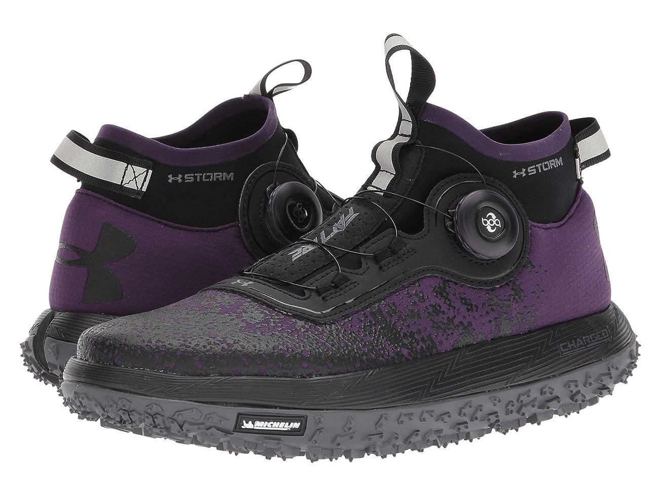 ドラマ戻す枢機卿(アンダーアーマー) UNDER ARMOUR レディースランニングシューズ?スニーカー?靴 UA Fat Tire 2 Premier Purple/Rhino Gray/Black 10.5 (27.5cm) B - Medium