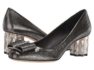 Salvatore Ferragamo 55 mm Capua Pump (Metallic Silver) High Heels