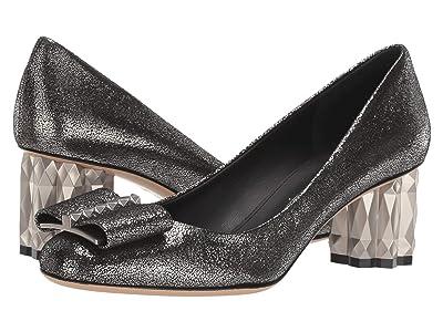 Salvatore Ferragamo 55 mm Capua Pump (Metallic Silver) High Heels