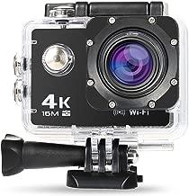 NEXGADGET Cámara Deportiva 4K WiFi Impermeable Videocámara Sumergible hasta 30m Sensor de Sony 16MP Ultra HD Gran Angular Lente de 170 Grados 2 Pulgadas de Pantalla LCD con Accesorios Múltiples