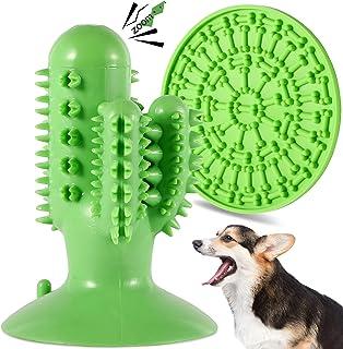 FiGoal Dog Chew Toy Cactus with Sound and Snack Pad (Green) Toy with Sound and Snack Pad Interactive Dog Toys Indestructib...