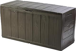 Keter Sherwood Coffre de Rangement extérieur en Plastique, 117x 45x 57.5cm–Marron