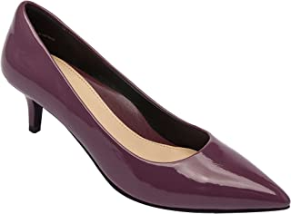 PIC/PAY Lori   Vegan Pointy Toe Low Kitten Heel Pump Comfortable Insole Padded Arch Support (New Fall)