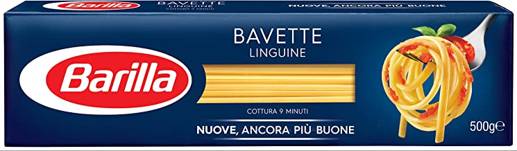Barilla bavette N. 13 (Pack de 8, 8 x 500 g): Amazon.es ...