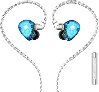HIDIZS MS1-Rainbow in-Ear Monitor Headphones, Hi Res Wired Earphones, Diaphragm Hi-Fi Noise-Isolating Musician Earbuds wit...
