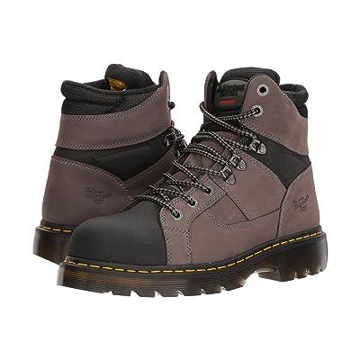 Dr. Martens Ironbridge Tectuff Steel Toe (Grey/Black) Work Boots