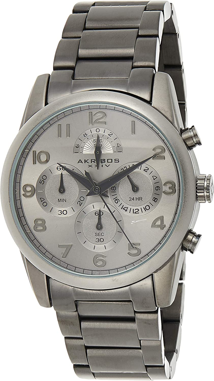 Akribos Chronograph Multifunction Men's Watch OFFicial site Brand Cheap Sale Venue Sub-dials - Stai 4