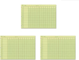 National Analysis Pad, 13 Columns, Green Paper, 11 x 16.375&