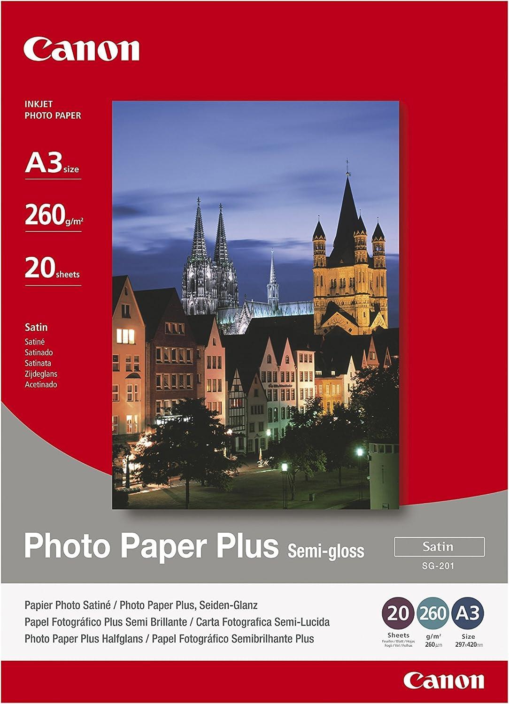 Paper Canon Rapid rise SG201 Photo Plus 260g A3 20s Indianapolis Mall Semi-glossy