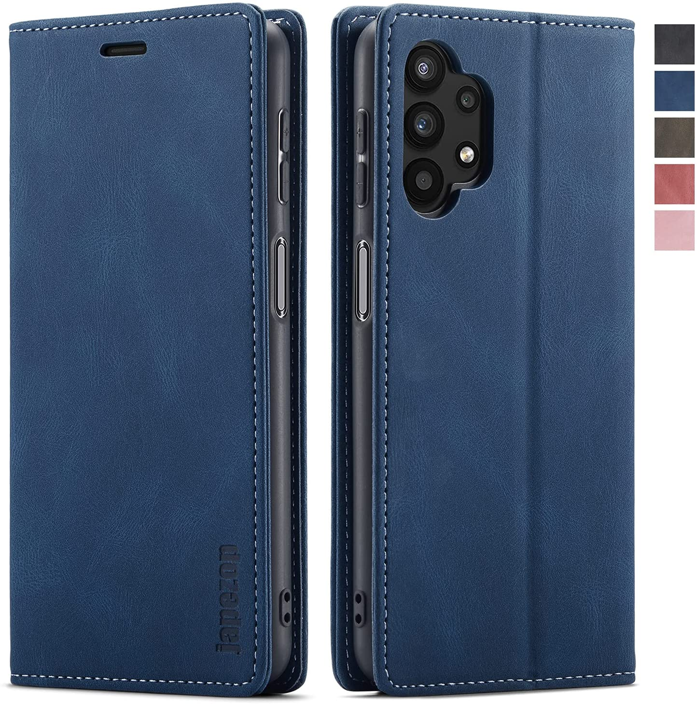 Samsung Galaxy A32 5G Case,Samsung Galaxy A32 5G Wallet Case with [RFID Blocking] Card Holder Kickstand Magnetic,Leather Flip Case for Samsung Galaxy A32 5G (Blue)